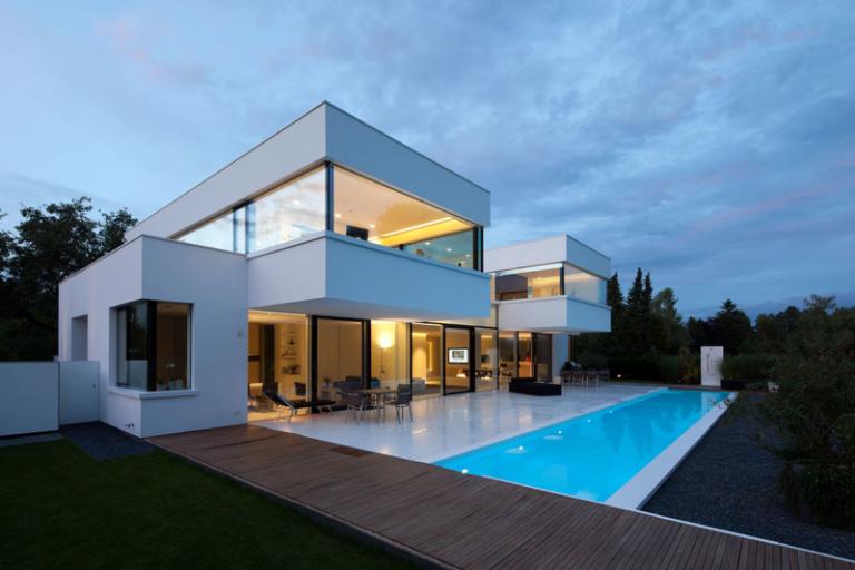 modern art inspired pool