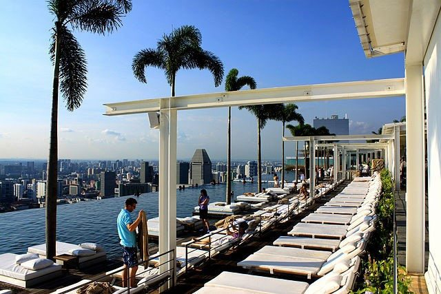 Marina Bay Sands Resort Swimming Pool Singapore