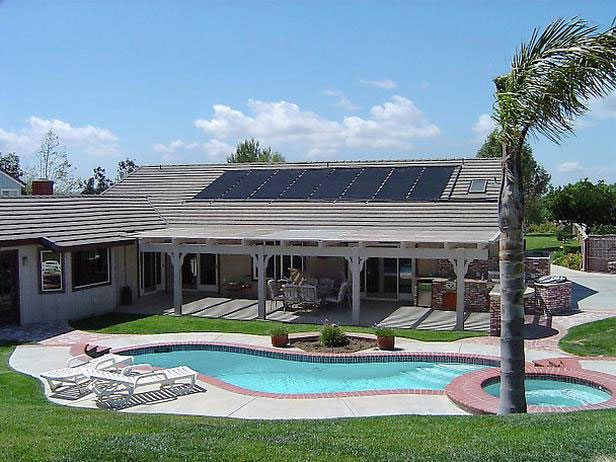 solar powered pool heating