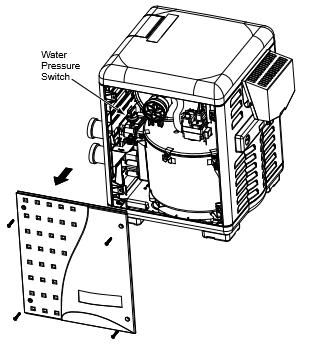 water pressure switch inside heater