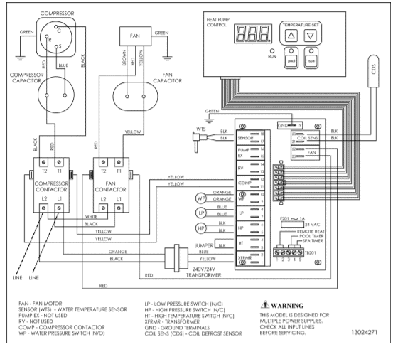 HP21104T wiring diagram